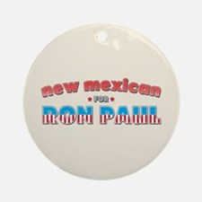 New Mexican For Ron Paul Ornament (Round)