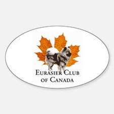 Eurasier Club of Canada (ECC) Oval Decal