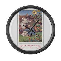 Blindman's Buff Large Wall Clock