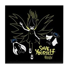 Save Yourself Tile Coaster