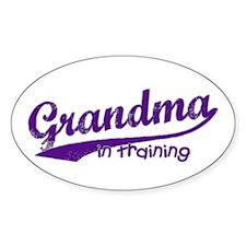 Grandma in Training Oval Decal