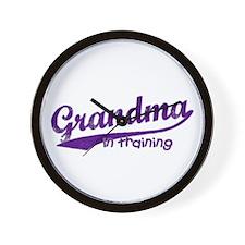 Grandma in Training Wall Clock