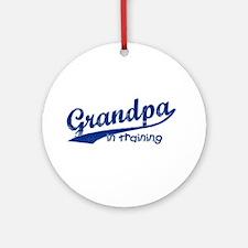 Grandpa in Training Ornament (Round)