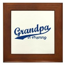 Grandpa in Training Framed Tile