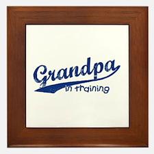 Grandpa in Training Framed Tile
