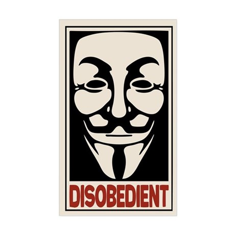 Disobedient Decal by oped