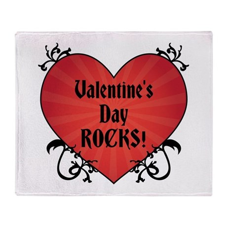 Valentine's Rocks Throw Blanket