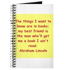 abraham lincoln Journal