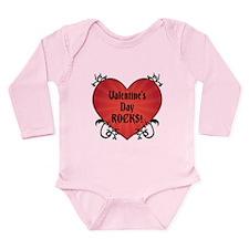 Valentine's Rocks Long Sleeve Infant Bodysuit
