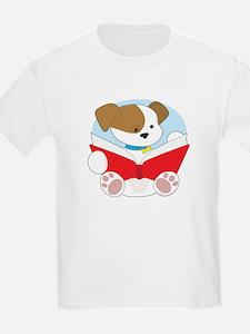 Cute Puppy Reading T-Shirt