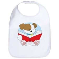 Cute Puppy Reading Bib