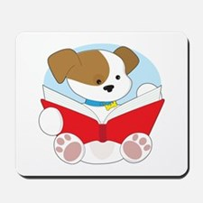 Cute Puppy Reading Mousepad