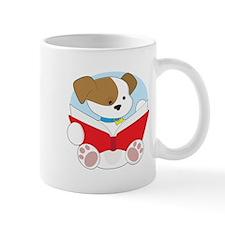 Cute Puppy Reading Mug