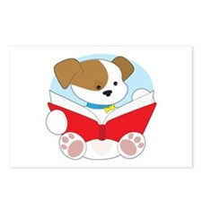 Cute Puppy Reading Postcards (Package of 8)