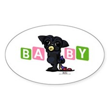 Girl baby PUG black Decal