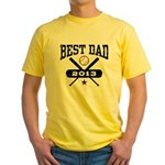 Best Dad 2013 Baseball Yellow T-Shirt