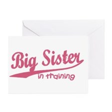 Big Sister in Training Greeting Cards (Package of