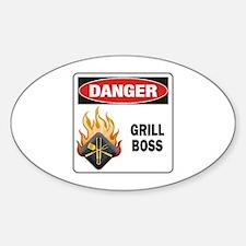 Grill Boss Sticker (Oval)