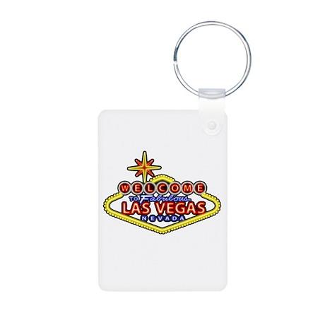 Las Vegas Sign Aluminum Photo Keychain