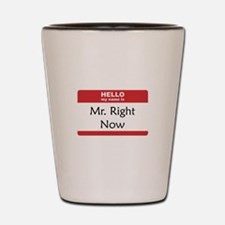 Mr Right Now Shot Glass