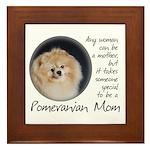 Pom Mom Framed Tile