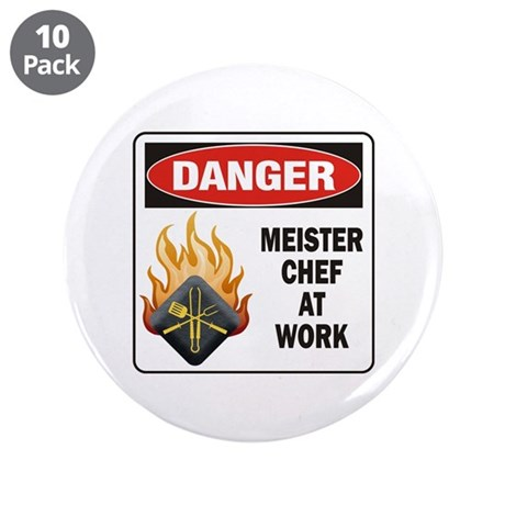 """Meister Chef 3.5"""" Button (10 pack)"""
