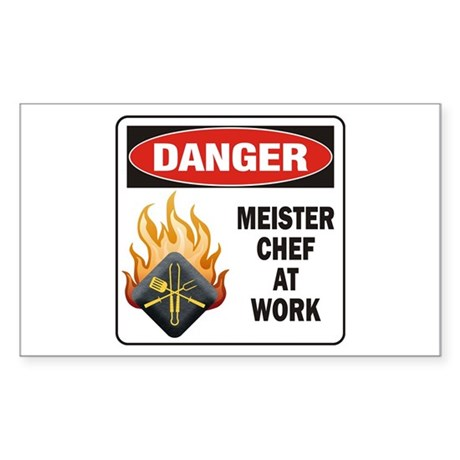 Meister Chef Sticker (Rectangle)