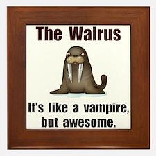Walrus Vampire Framed Tile
