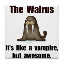 Walrus Vampire Tile Coaster