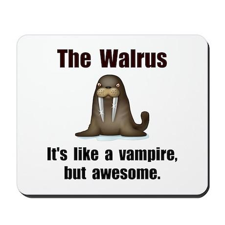 Walrus Vampire Mousepad