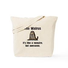 Walrus Vampire Tote Bag