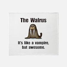 Walrus Vampire Throw Blanket