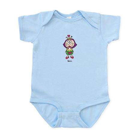 Cute Valentine's Day Princess Infant Bodysuit