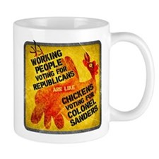 Chickens Voting for Col. Sand Mug