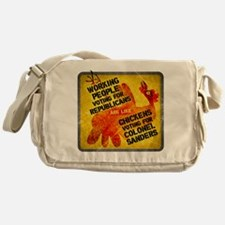 Chickens Voting for Col. Sand Messenger Bag