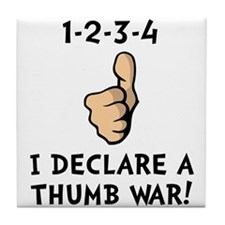 Thumb War Tile Coaster
