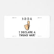 Thumb War Aluminum License Plate