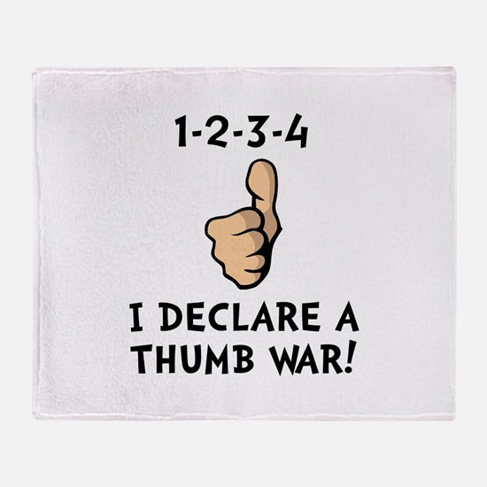 Thumb War Throw Blanket