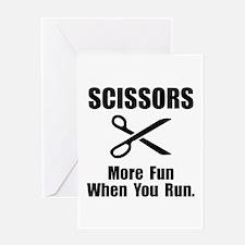 Scissors Fun Greeting Card