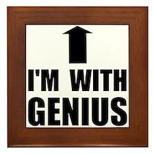 I'm With Genius Framed Tile