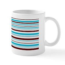 Blue & Brown Stripes Mug