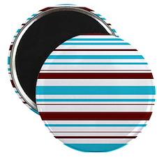 Blue & Brown Stripes Magnet