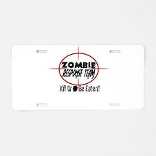 Funny Zombie Response Team Aluminum License Plate