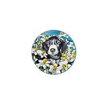 Great Dane Mantle Daffodils Mini Button