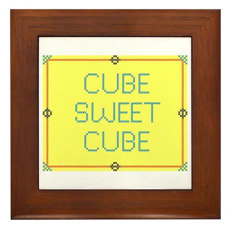 Cube Sweet Cube Framed Tile