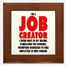 I'm A Job Creator Framed Tile