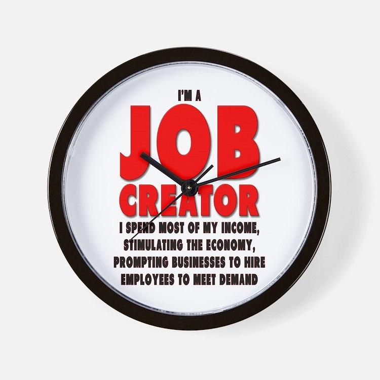 I'm A Job Creator Wall Clock