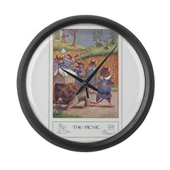 The Picnic Large Wall Clock