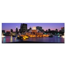 Buckingham Fountain Chicago IL Poster