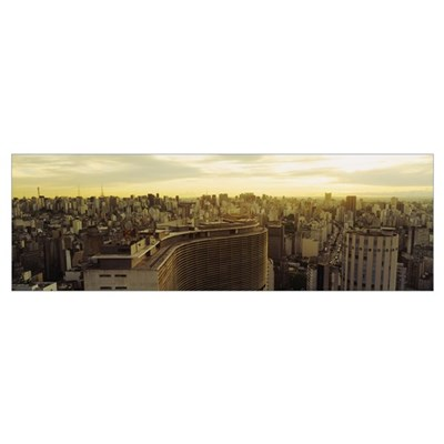 High angle view of a city, Copan Building, Hotel H Framed Print